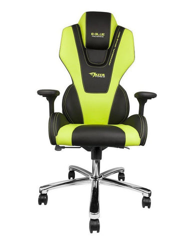 MAZER PC GAMING CHAIR (BLACK/GREEN)