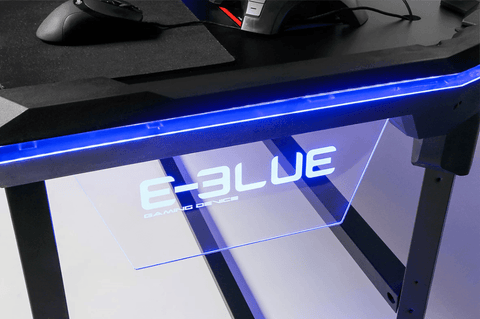 E-BLUE WIRELESS GLOW GAMING DESK (2 Sizes)