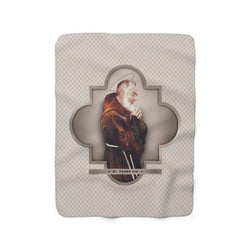 St. Pio Sherpa Fleece Blanket