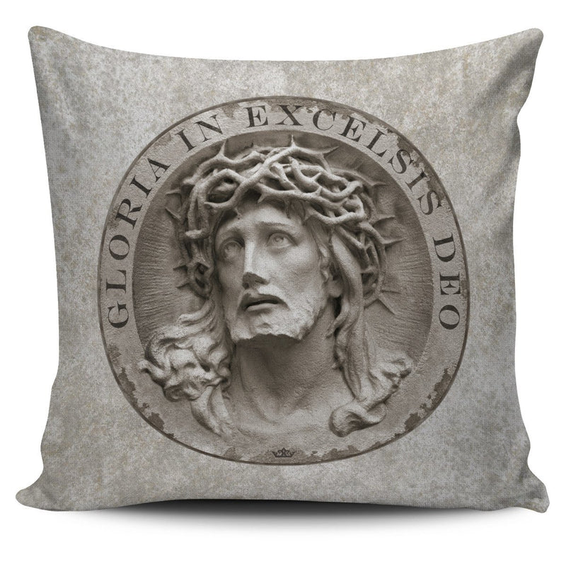Gloria In Excelsis Deo Pillow Cover in Light Sandstone