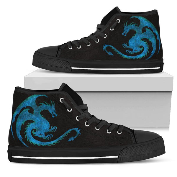 Legendary Dragon Men's High Top Shoes in Ice