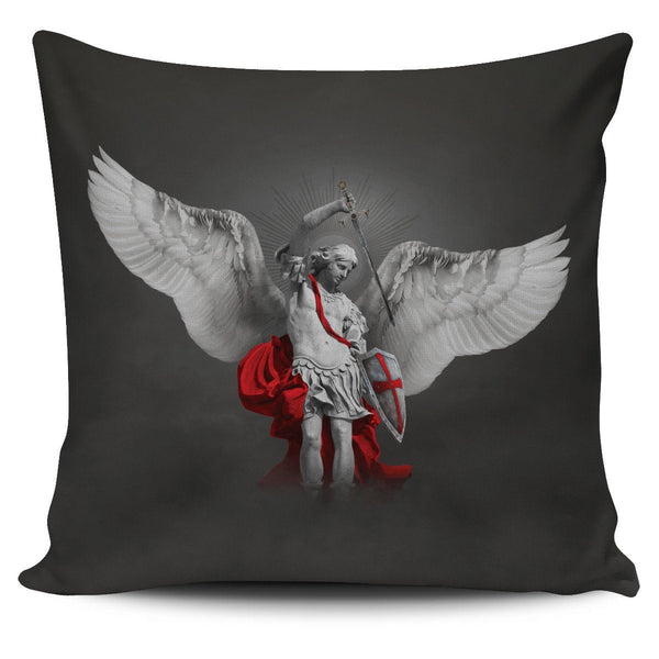 St. Michael the Archangel Pillow Cover Dark