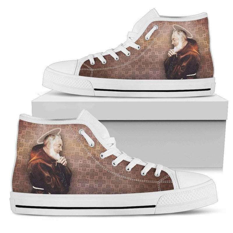 St. Pio Women's High Top Shoes in Burnt Sienna