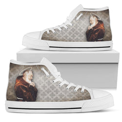 St. Pio Women's High Top Shoes in Church Smoke