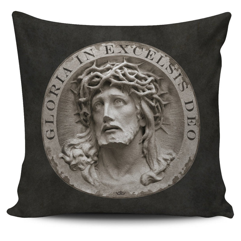 Gloria In Excelsis Deo Pillow Cover in Dark Sandstone