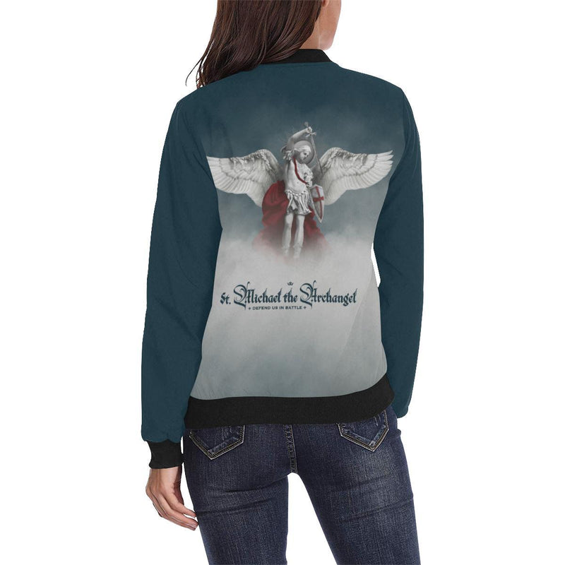 St. Michael the Archangel Women's Jacket (Navy Blue)