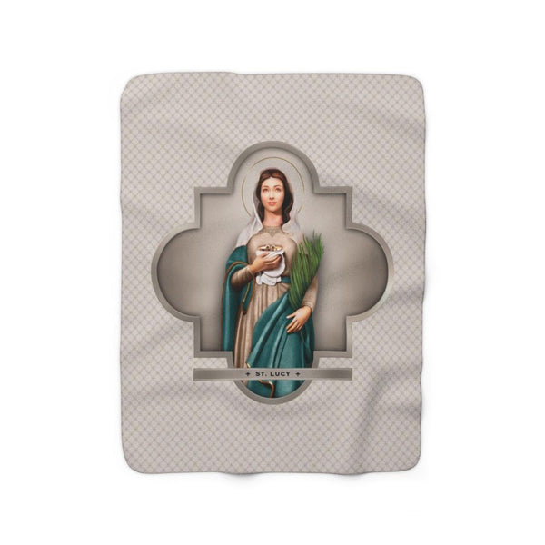 St. Lucy Sherpa Fleece Blanket