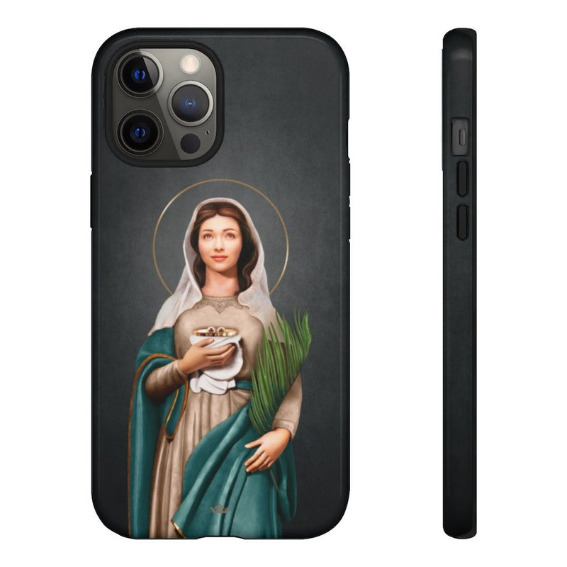 St. Lucy Hard Phone Case (Dark)