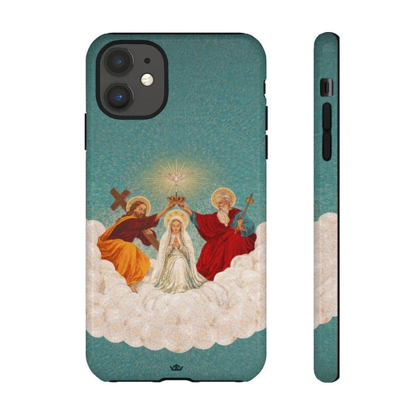 Mosaic Coronation of Mary Hard Phone Case
