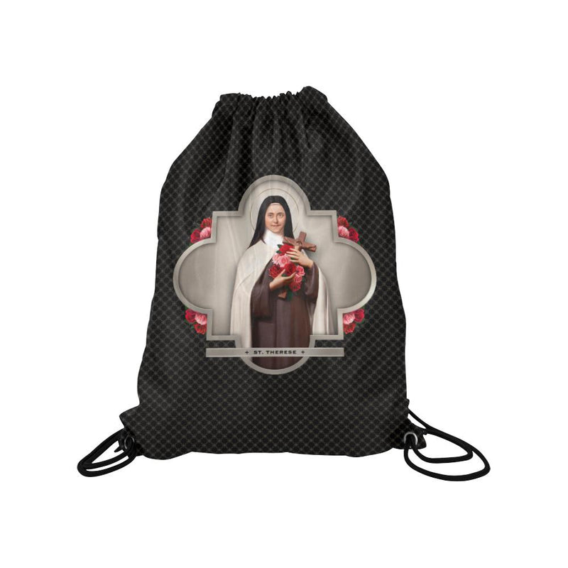 St. Therese of Lisieux Drawstring Bag