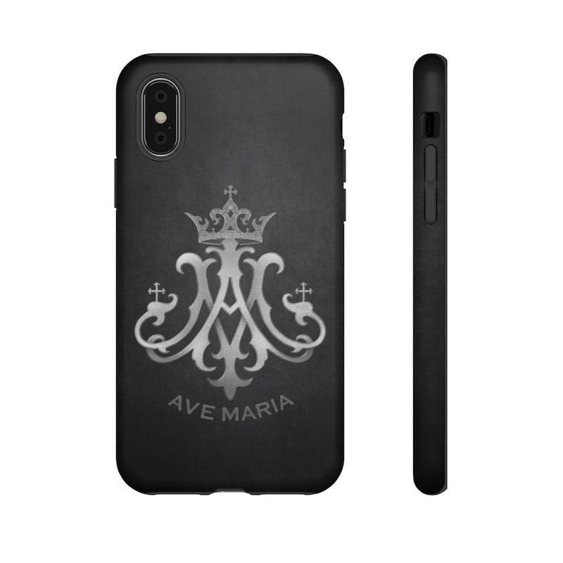 Ave Maria Hard Phone Case (Charcoal)