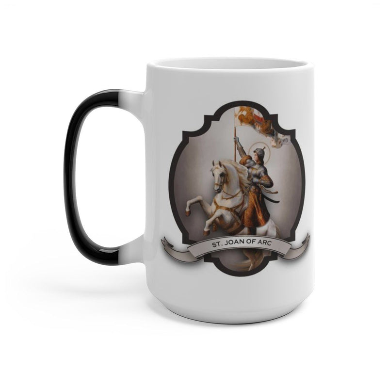 St. Joan of Arc in Battle Transitional Mug