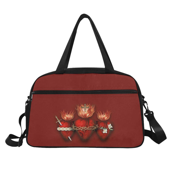 Holy Family Hearts Travelers Bag (Crimson)