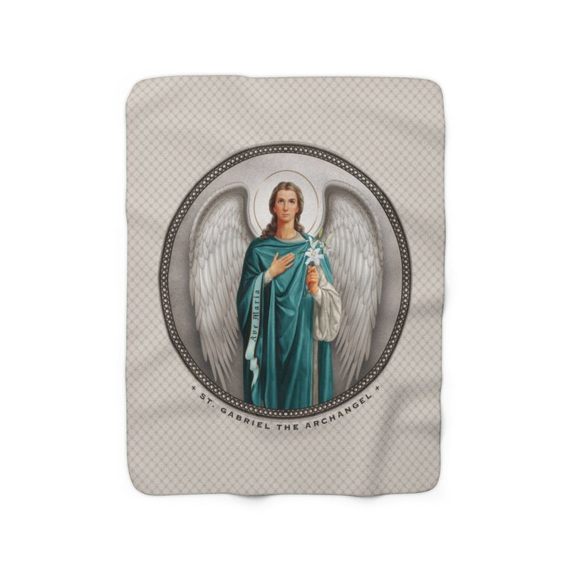St. Gabriel the Archangel Sherpa Fleece Blanket