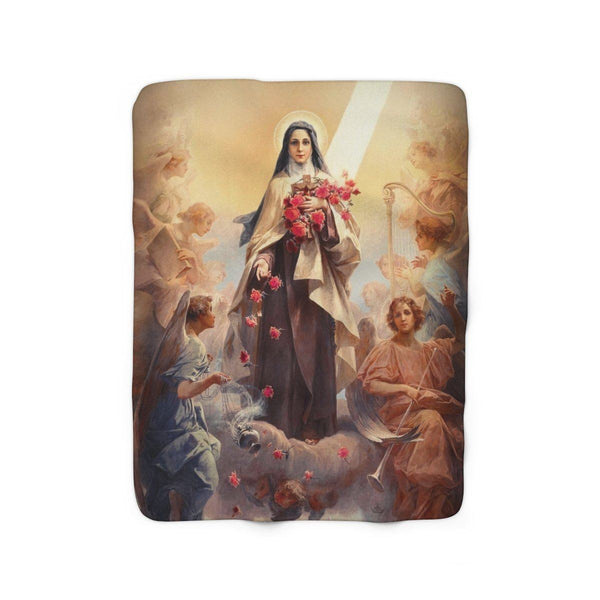 St. Therese of Lisieux and the Angels Sherpa Fleece Blanket