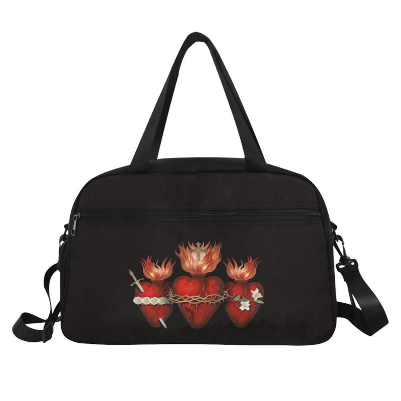 Holy Family Hearts Travelers Bag (Black)