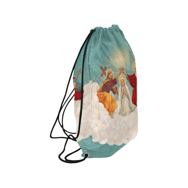 Mosaic Coronation of Mary Drawstring Bag