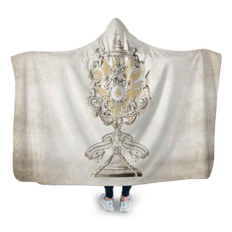 Divine Strength Monstrance Hooded Blanket