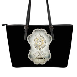 Divine Strength Monstrance Large Tote Bag in Black