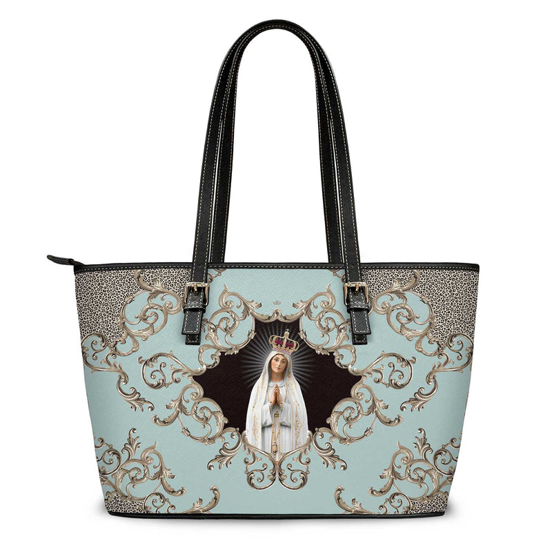 Our Lady of Fatima Tote Bag (Baroque Blue)