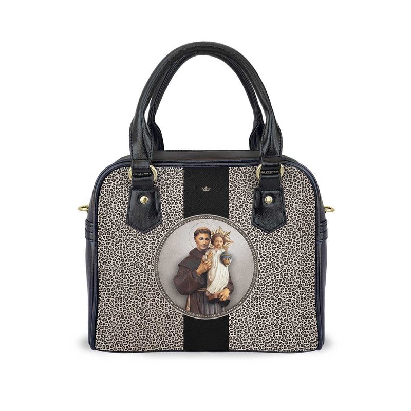 St. Anthony of Padua Medallion Handbag (Leopard)