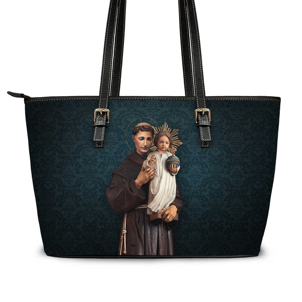 St. Anthony of Padua Tote Bag (Celestial Blue)