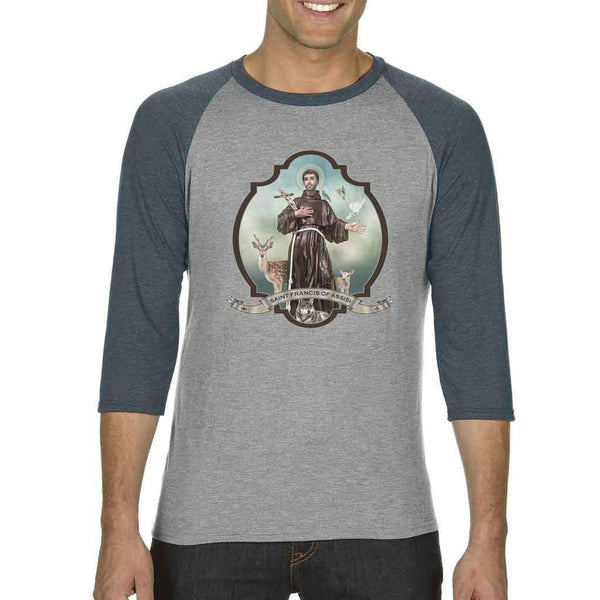St. Francis of Assisi Tri-Blend Raglan Tee