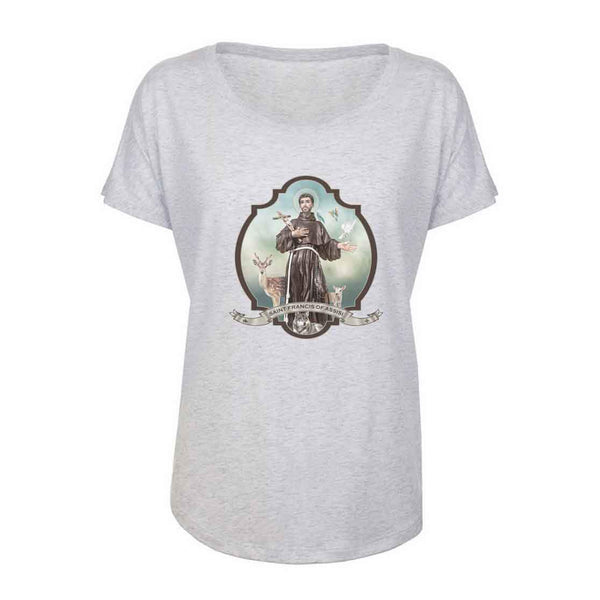St. Francis of Assisi Women's Tri-Blend T-Shirt