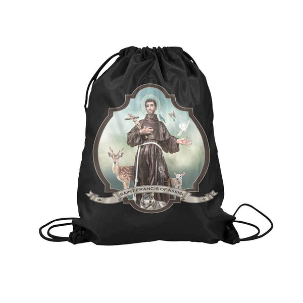 St. Francis of Assisi Drawstring Bag