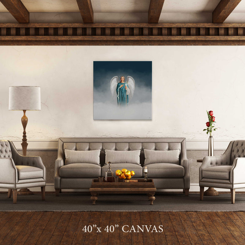 St. Gabriel the Archangel Cloudscape Canvas Print