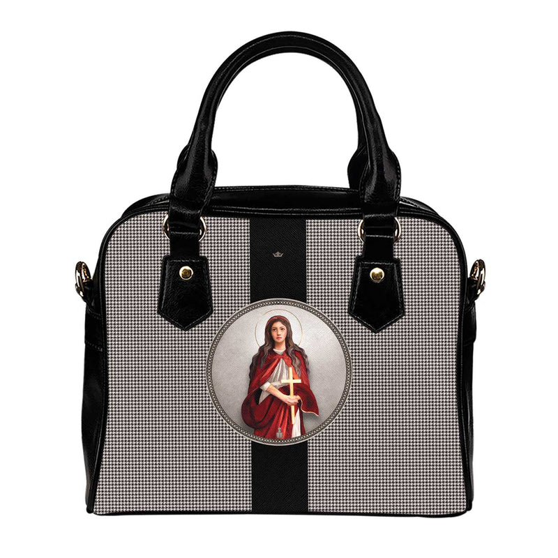 St. Mary Magdalene Medallion Handbag (Houndstooth)
