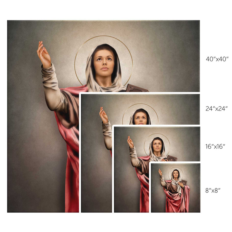 St. Monica Canvas Print