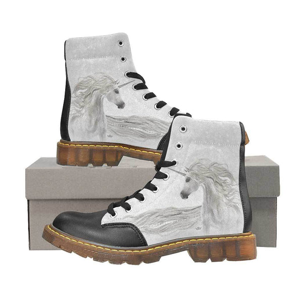 Magical Unicorn Women's Oxford Boots in Silver