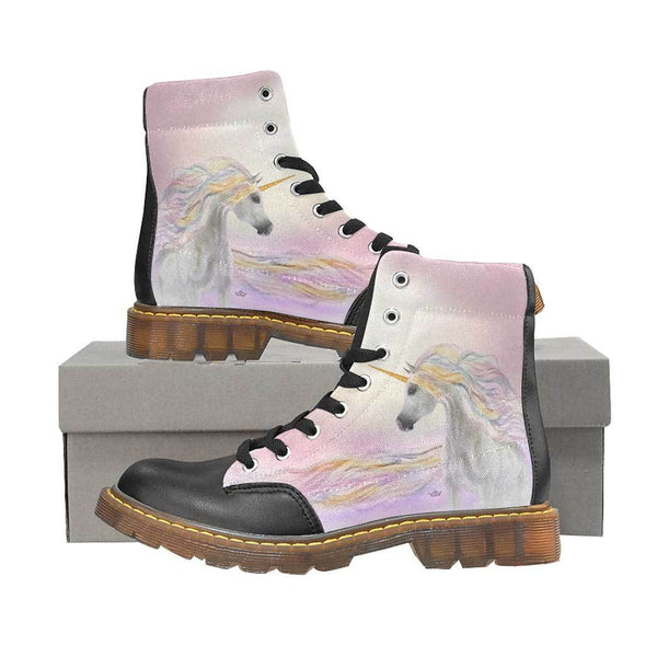 Magical Unicorn Women's Oxford Boots Cotton Candy