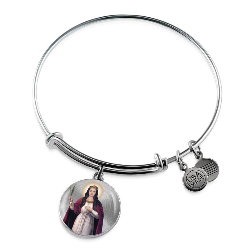 St. Philomena Charm Bangle Bracelet