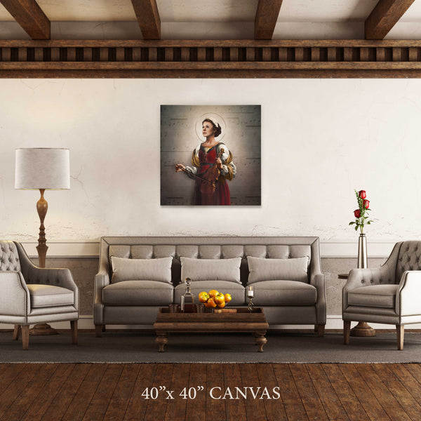 St. Cecilia Canvas Print (Music Notes)