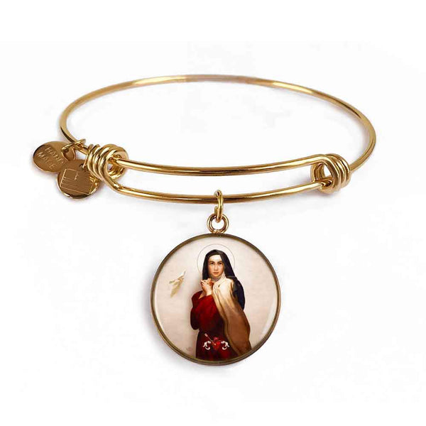 St. Teresa of Avila Charm Bangle Bracelet