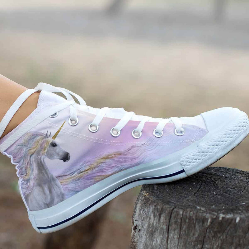 Magical Unicorn Women's High Top Shoes