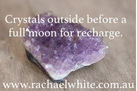 Pre Full Moon Post- Put your crystals outside