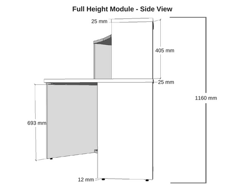 Dunn Furniture Reception Modular Full Height Module