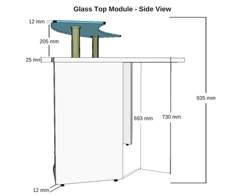 Glass Top Module Dunn Furniture Reception Modular Round