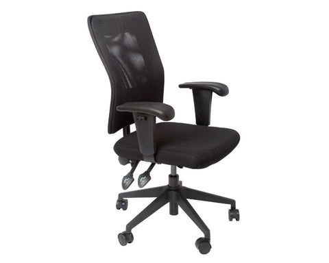 Rapidline Mesh Back Operator Chair Black Task Chairs Dunn Furniture - Online Office Furniture for Brisbane Sydney Melbourne Canberra Adelaide
