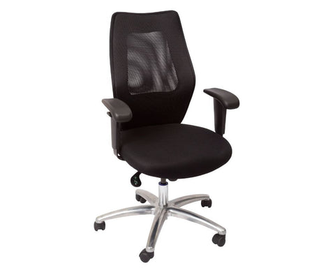 Rapidline Medium Mesh Back Executive Chair Black Executive Chairs Dunn Furniture - Online Office Furniture for Brisbane Sydney Melbourne Canberra Adelaide