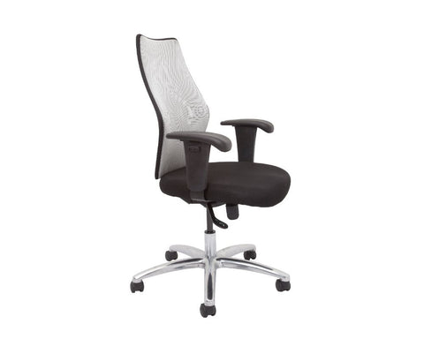 Rapidline Medium Mesh Back Executive Chair Silver Executive Chairs Dunn Furniture - Online Office Furniture for Brisbane Sydney Melbourne Canberra Adelaide