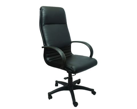 Rapidline Alexandra High Back Executive Chair Black Executive Chairs Dunn Furniture - Online Office Furniture for Brisbane Sydney Melbourne Canberra Adelaide