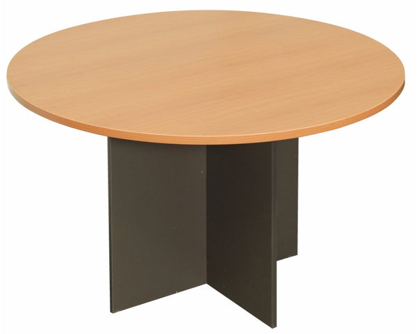 Rapidline Rapid Worker Round Meeting Table Beech Ironstone Meeting Tables Dunn Furniture - Online Office Furniture for Brisbane Sydney Melbourne Canberra Adelaide