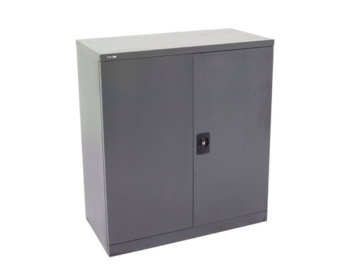 Rapidline GO Stationery Cupboard 2/3/4 Shelves - Graphite Ripple Storage Units Dunn Furniture - Online Office Furniture for Brisbane Sydney Melbourne Canberra Adelaide