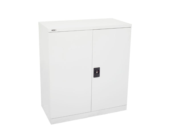 Rapidline GO Stationery Cupboard 2/3/4 Shelves - Silver Grey Storage Units Dunn Furniture - Online Office Furniture for Brisbane Sydney Melbourne Canberra Adelaide