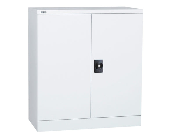 Rapidline GO Stationery Cupboard 2/3/4 Shelves - White Satin Storage Units Dunn Furniture - Online Office Furniture for Brisbane Sydney Melbourne Canberra Adelaide