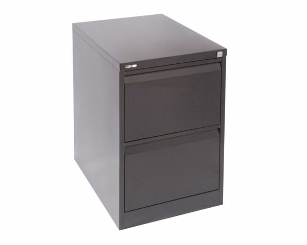 Rapidline GO 2 Drawer Filing Cabinet - Black Ripple Storage Units Dunn Furniture - Online Office Furniture for Brisbane Sydney Melbourne Canberra Adelaide